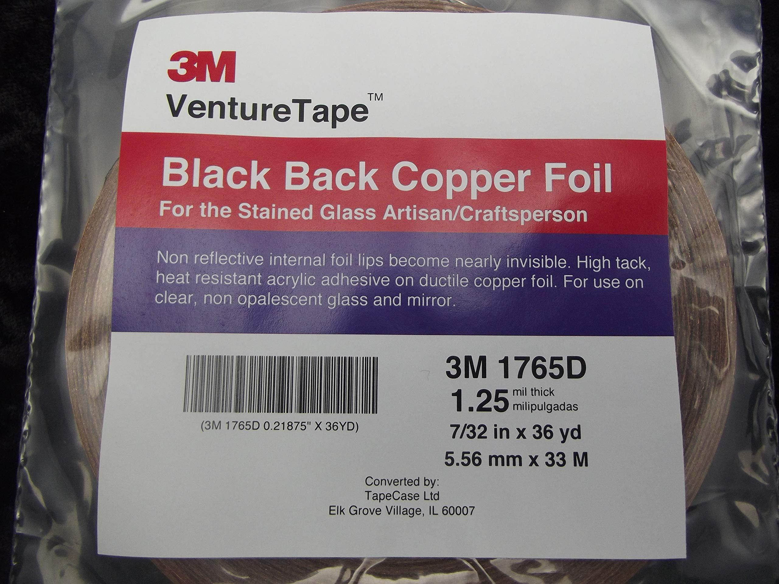 7/32 inch Venture Black Backed Copper Foil