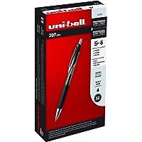 12-Pack Uni-ball 207 Retractable Gel Pens, Medium Point