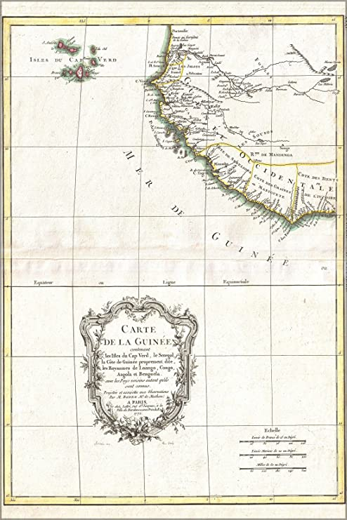 Amazon Com 1771 Map Of Guinea Coast And Cape Verde Islands West