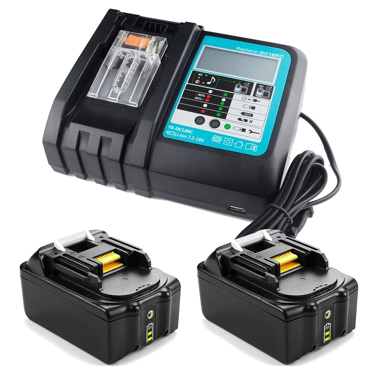 SHS 【 Kit Cargador y 2 x Batería 】 Repuestos para Makita ...