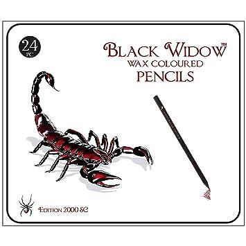 Negro Viuda lápices de colores para adultos, la mejor Set de lápices ...