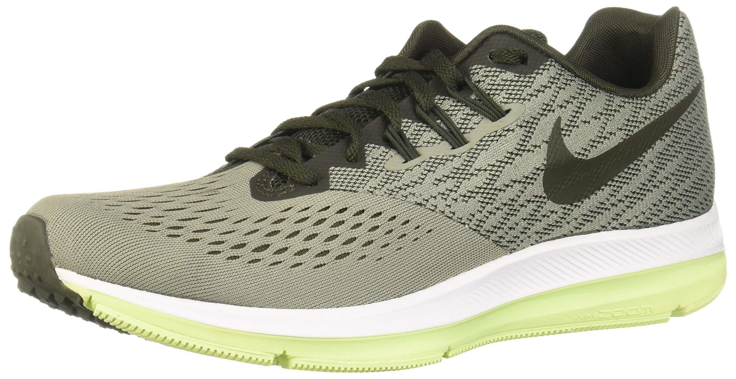 sports shoes b3eab c2dd4 Nike Men's Air Zoom Winflo 4 Running Shoe (11, Dark Stucco/Sequoia-Barely  Volt-White)