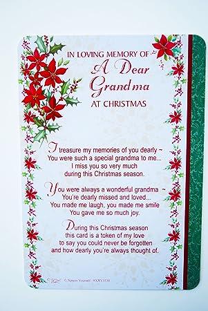 Loving Memory Dear Grandma Grave Card Christmas Decorations Memorial