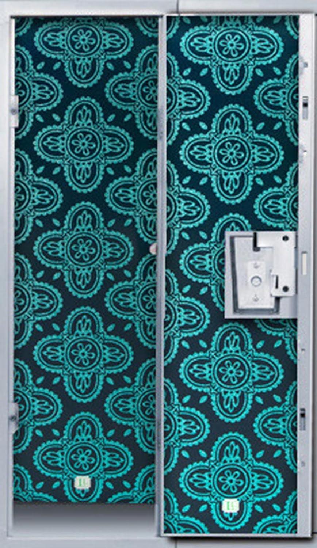 Midnight Paisley Lockerlookz (Tm) Locker Wallpaper 24 PkgPink Floral