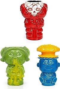 Geeki Tikis Garbage Pail Kids GPK Ceramic Mugs | Set of 3 | Includes 3 Collectible Trading Cards