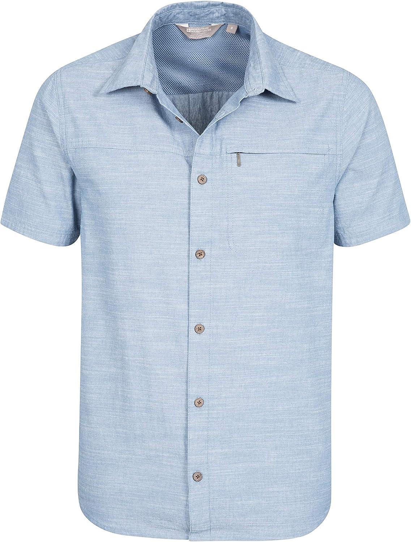 Mountain Warehouse Womens Lightweight Shirt 100/% Cotton Made of Natural Fibres