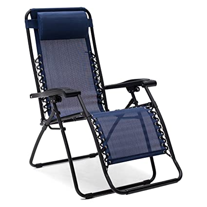 Caravan Canopy Zero Gravity Chair Foldable   Blue