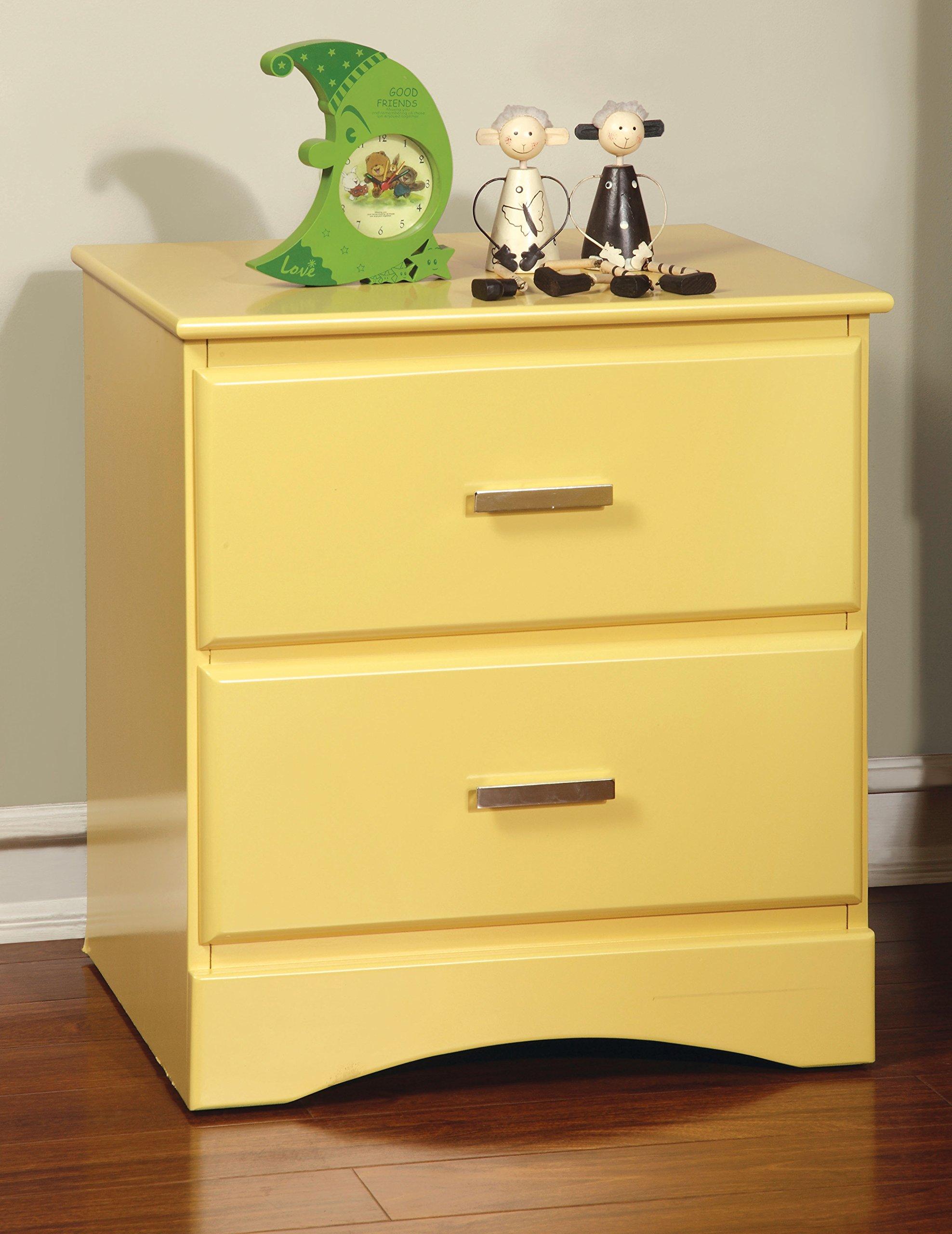 Furniture of America Kolora Youth Nightstand, Yellow