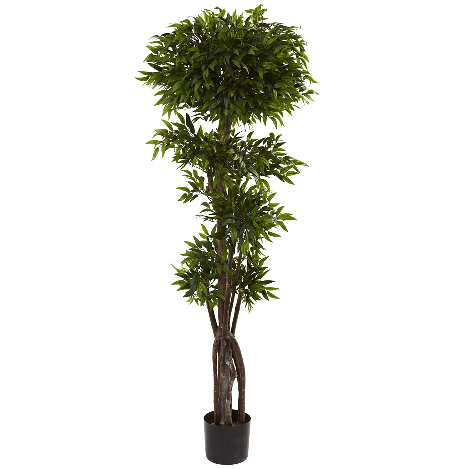 Green 5-Feet Nearly Natural 5400 Ruscus Tree