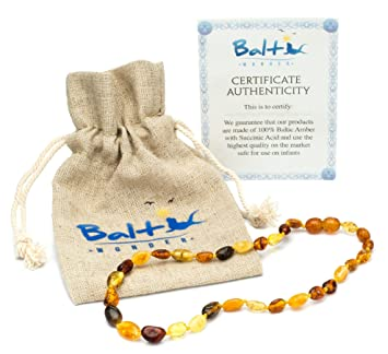 Amazon amber teething necklace for babies unisex anti amber teething necklace for babies unisex anti flammatory drooling teething pain mozeypictures Images