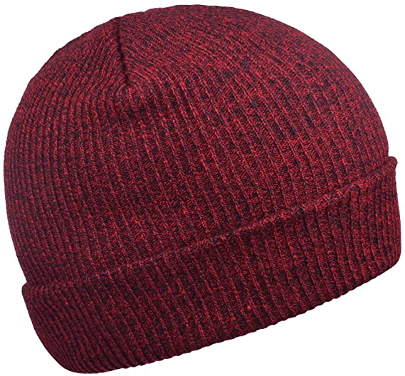 WDSKY Men s Rib Knit Beanie Hats for Winter Burgundy at Amazon Men s ... d6c37481a00