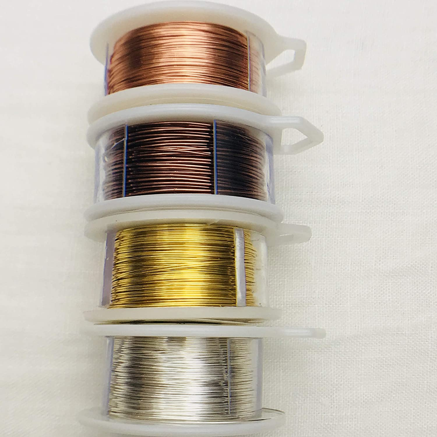 20 Gauge Wire for Craft /& Jewelry Making Tarnish Resistant Silver Gold Copper Antique Multi-Pack