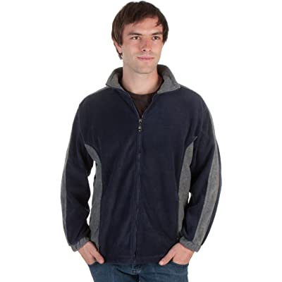 Adult Mens Two-Tone Anti-Pilling Performance Fleece Jacket and Sizes at Amazon Men's Clothing store