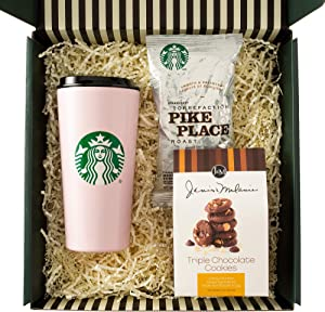Starbucks Thank You Gift Box with Greeting Card, Multicolored