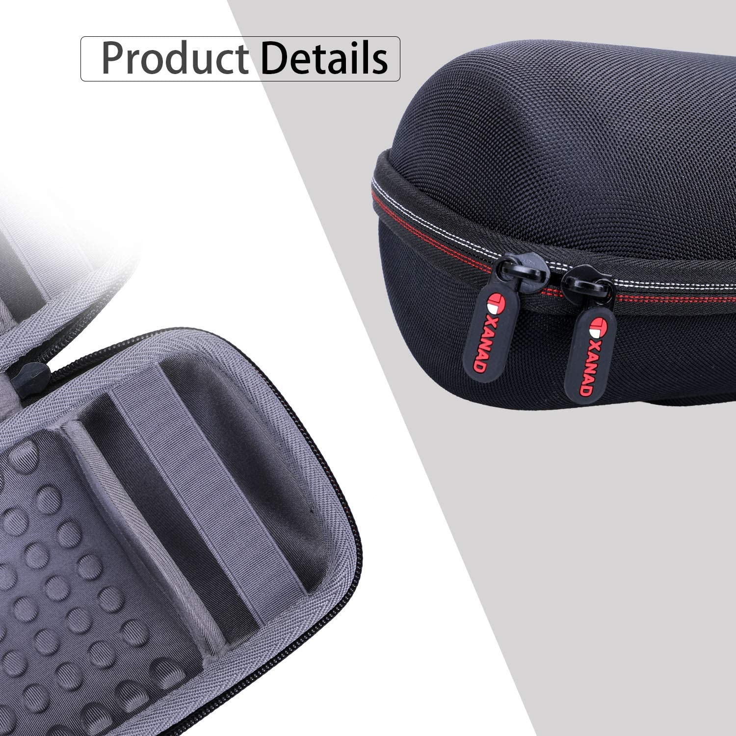 Travel Carrying Storage Protective Bag Grey XANAD Hard Case for JBL Charge 4 Speaker