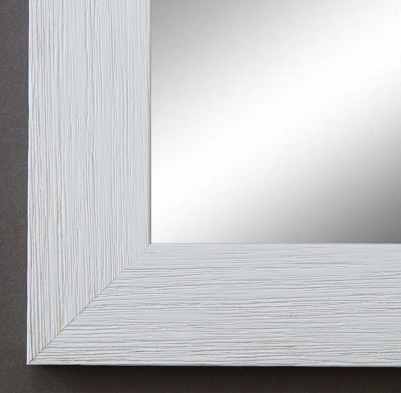 Online Galerie Bingold Wandspiegel Spiegel Badspiegel - Florenz 4,0 - Weiß - 80 x 100 - Außenmaß inkl. Massivholz-Rahmen - viele Größen verfügbar - Modern, Barock, Antik, Vintage
