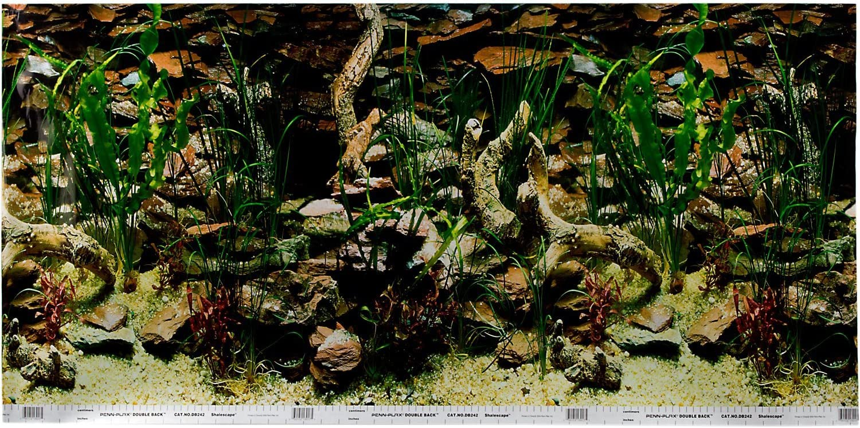Pen Plax DBC2448CB Petco Double Sided Aquarium Background