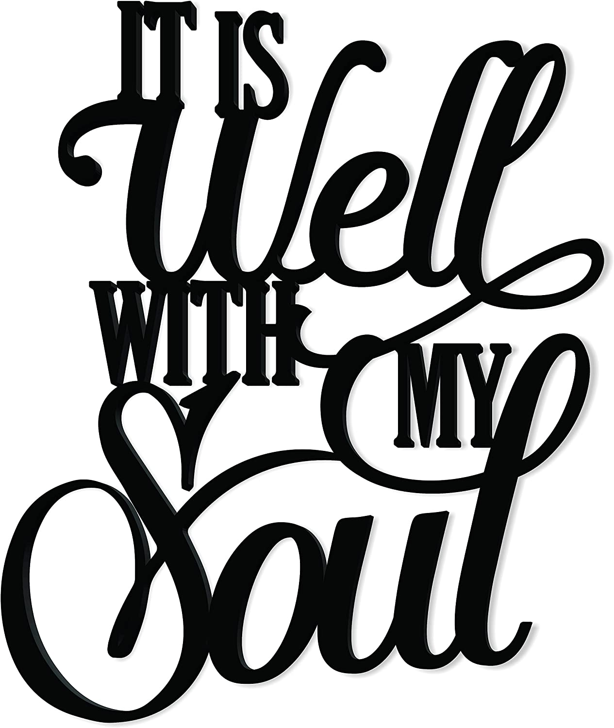 It is Well with My Soul Word Art Wood Cutout