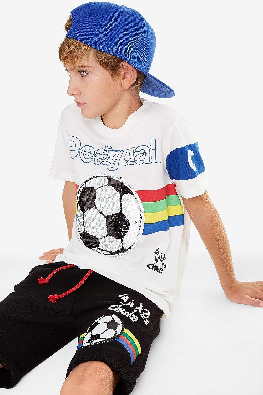 Desigual Bermuda A Coste Baseball 19SBPK07 Pantalone Pallone Bambino