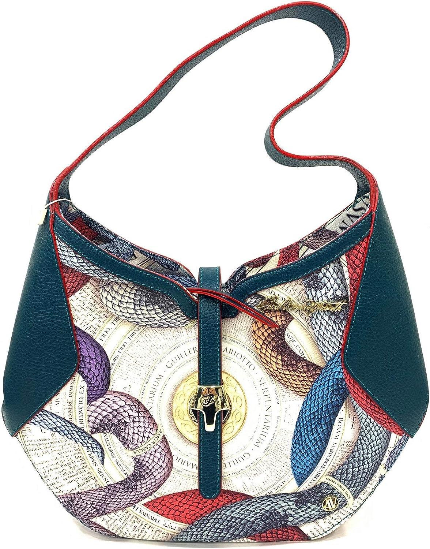 guillermo mariotto borsa donna in pelle KRAIT MULTI GREEN: Amazon.it:  Scarpe e borse