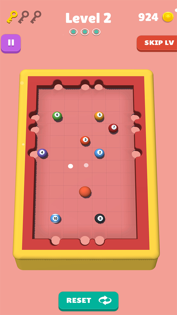 Flick The Ball Billiard Game - 8 Pool Puzzle Billiard Game: Amazon.es: Appstore para Android