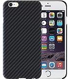 iPhone 6 Plus / iPhone 6s Plus Cover con Schermo protettivo, Nero / Grigio, 5.5 pollici Custodia ultra sottile 0.65 mm da PITAKA Aramid Fibre