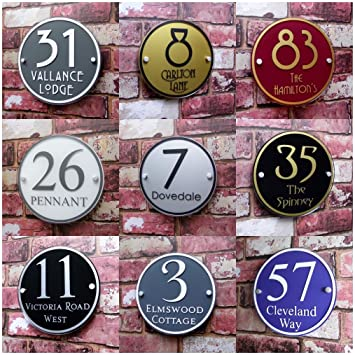 premium quality personalised house sign address plaque door number