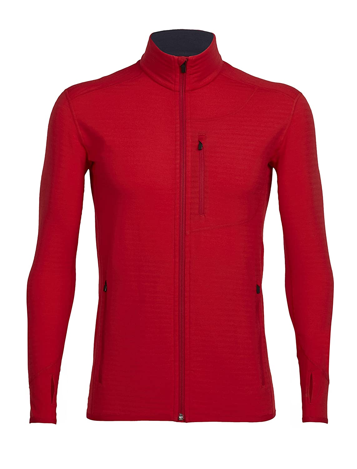 Icebreaker Merino Descender Long Sleeve Zip Top, New Zealand Merino Wool