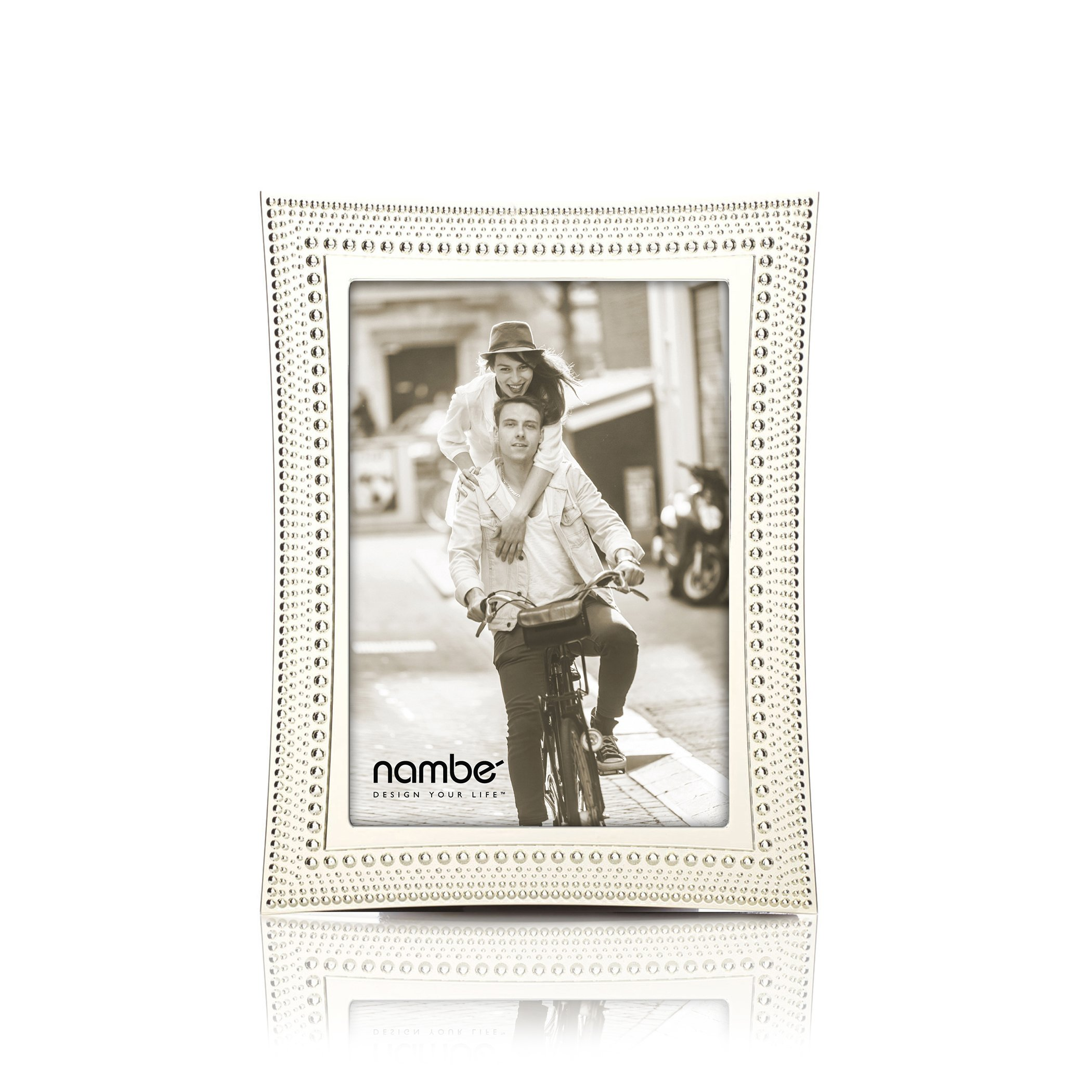 Nambe Beaded Picture Frame, 5'' x 7''