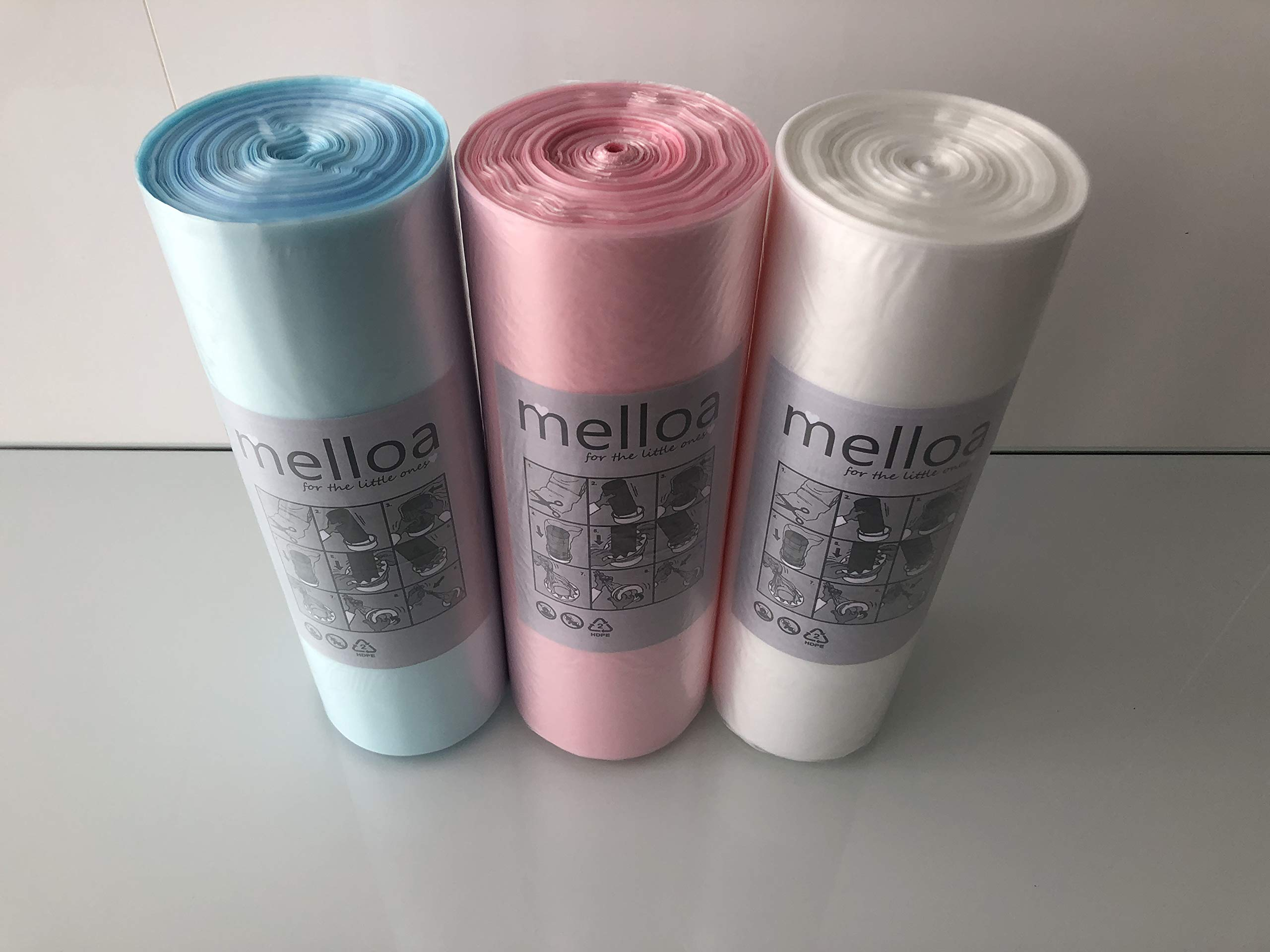 200 Meters+Refill Tube 200m Liner Equivalent to 28 Angelcare Original Refills Refill foil 200m Soncare Nappy Sacks Compatible with Sangenic Angelcare Tommee Tippee /& Litter Locker II Cassettes