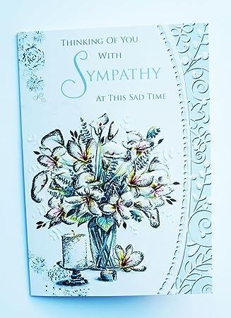 Thinking Of You Sympathy Card Poem Condolences Empathy Flowers Sad