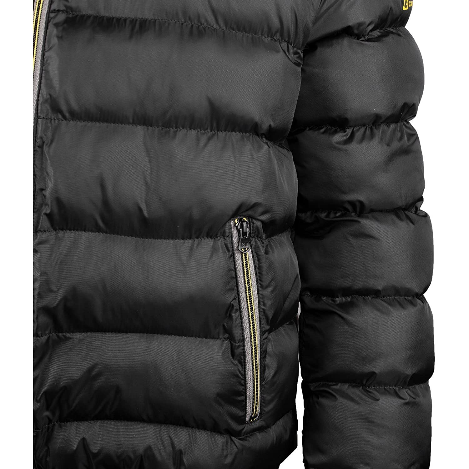 263446f41 CAT Lifestyle WILLIAMSBURG Mens Quilted Jacket Black Extra Large ...