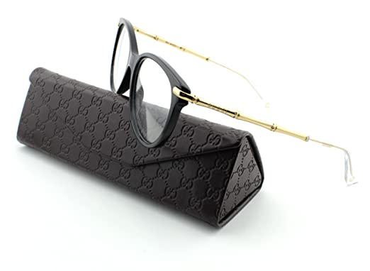gucci 3780. gucci 3780 gucci 3780 round woman eyegalsses black gold frame  0hqw 53 amazoncom 3432119fba