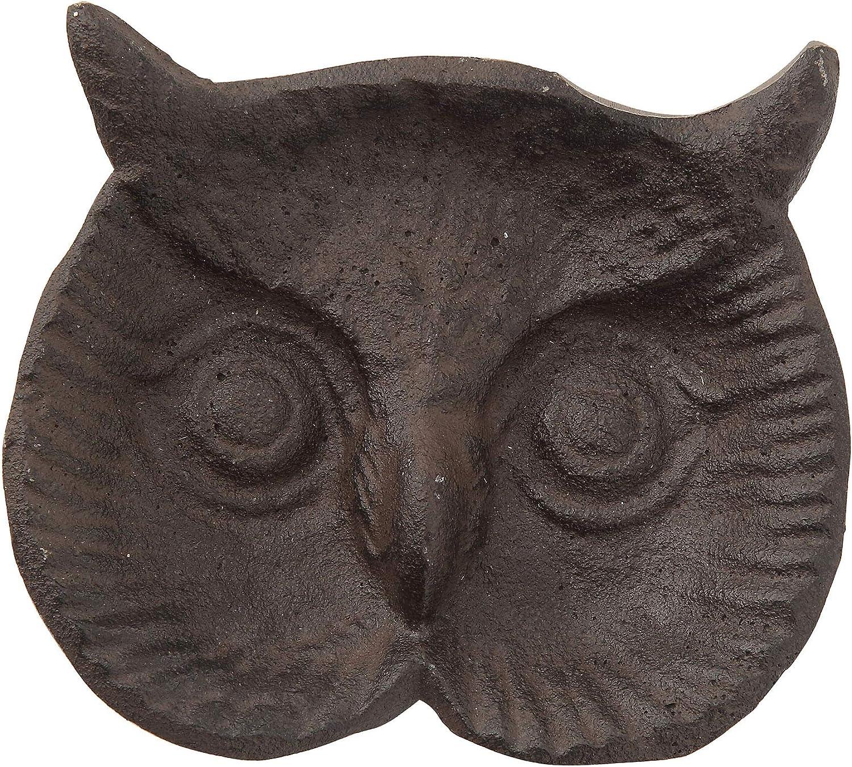 "Owl Bird decorative cast iron 4/"" small dish Halloween Decor New"