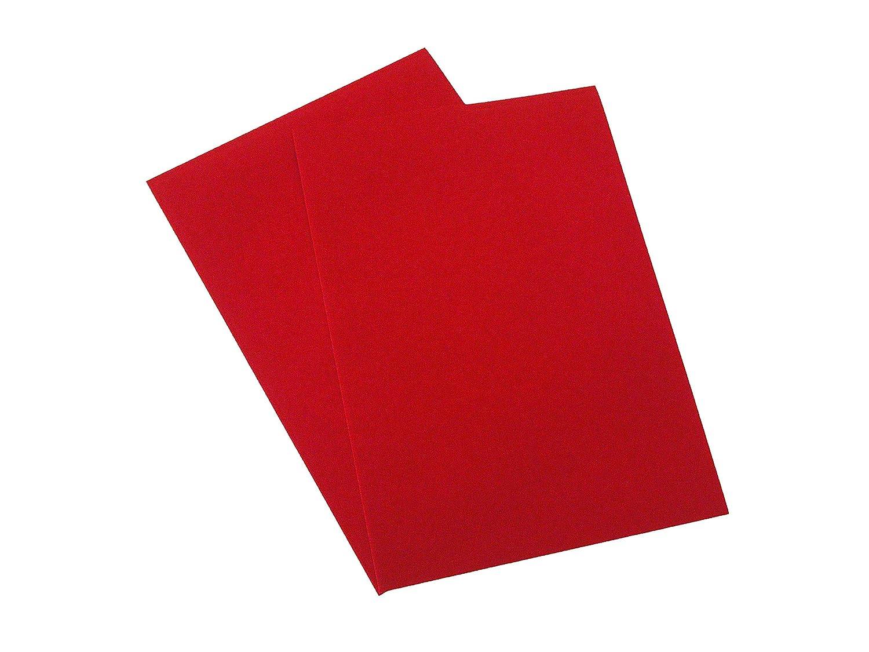 6 x A4 feuille adhésive en velours DC Fix Prix spécial en vinyle Red A S Supplies