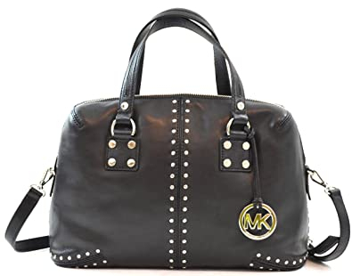 365f32aff6eb Amazon.com  Michael Kors Astor Studded Leather Large Satchel