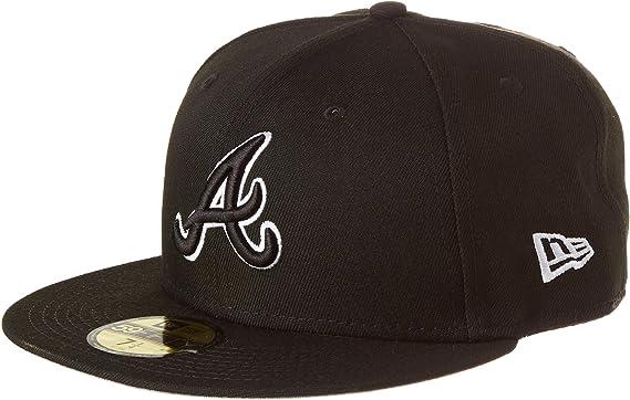 New Era MLB20 Atlanta Braves Casquette de baseball pour homme Noir//blanc