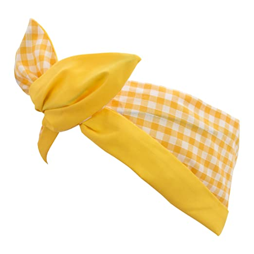 Vintage Hair Accessories: Combs, Headbands, Flowers, Scarf, Wigs Rockabilly Style 1950s Hairband - Yellow Gingham $15.95 AT vintagedancer.com