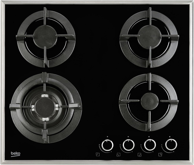 Beko HISW64222SB 58cm Four Burner Gas Hob - Black