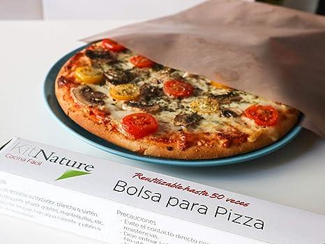 Kit Nature Bolsa para Hornear Pizza - Pack de 1 Bolsa Reutilizable, Lavable, Antiadherente, Libre de PFOA, Evita la Contaminación Cruzada -Tamaño ...