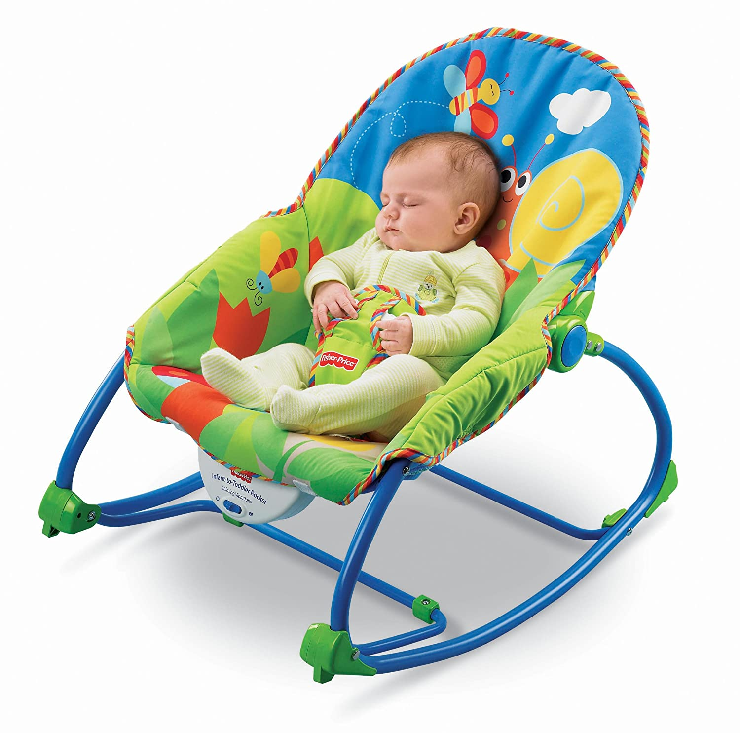 Amazon Fisher Price Infant To Toddler Rocker Bug Friends