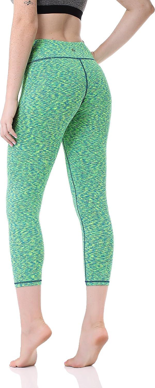 Pau1Hami1ton Legging Femme Pantalon de Sport avec Poches Yoga Fitness Gym Pilates Taille Haute GP-07