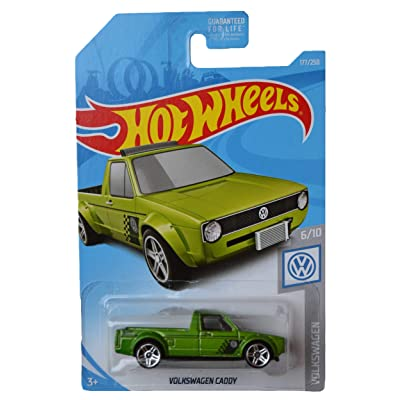 Hot Wheels Volkswagen Series 6/10 Volkswagen Caddy 177/250, Green: Toys & Games