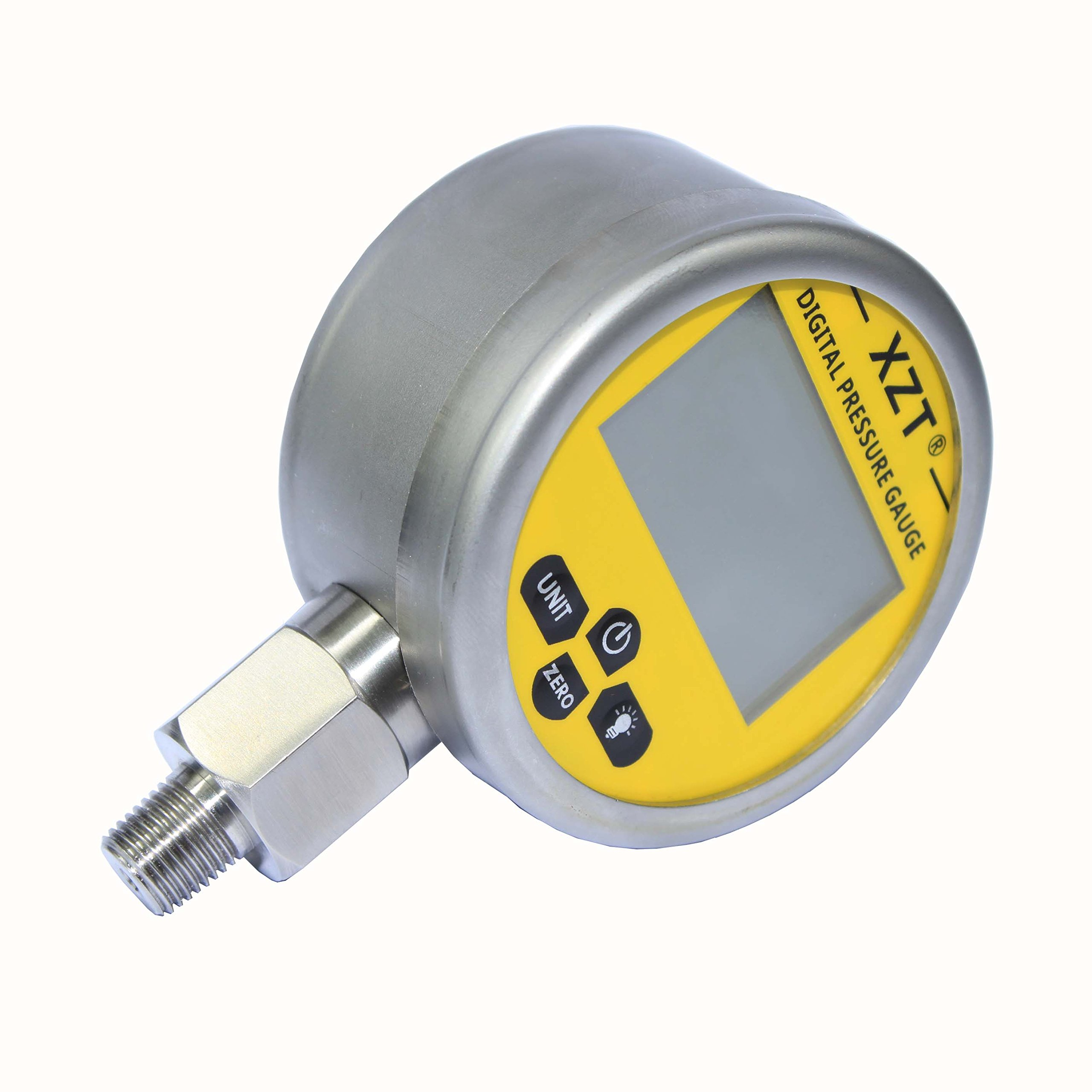XZT Digital Hydraulic Pressure Gauge 10000psi/700bar-1/4npt-base Entry