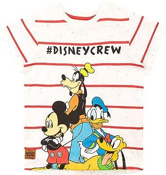 Disney Camiseta de Manga Corta para niños Mickey Mouse