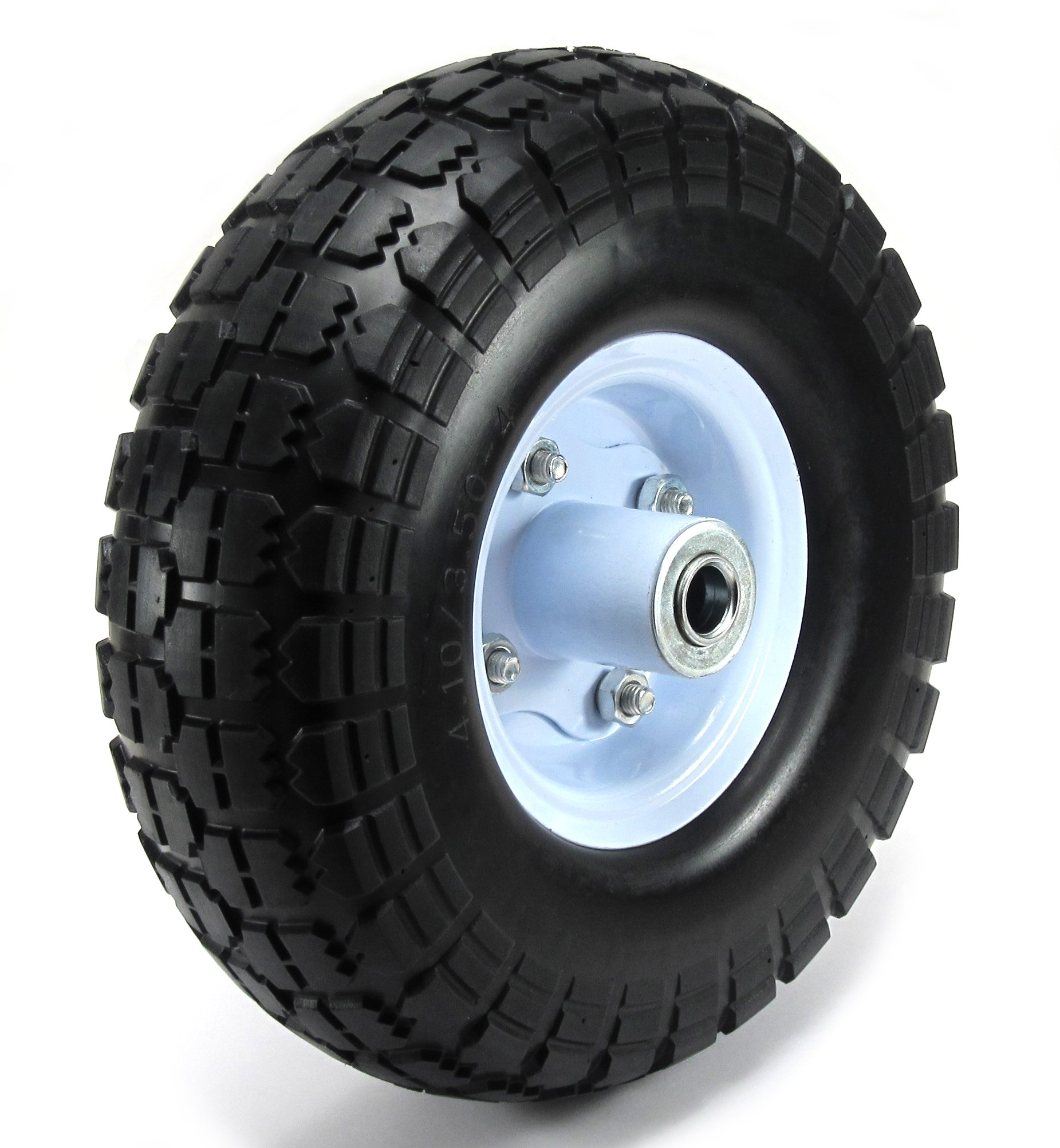 "Elitexion 10"" Flat Free Tire Wheel for Dolly Hand Truck with 5/8"" Center Shaft Hole"
