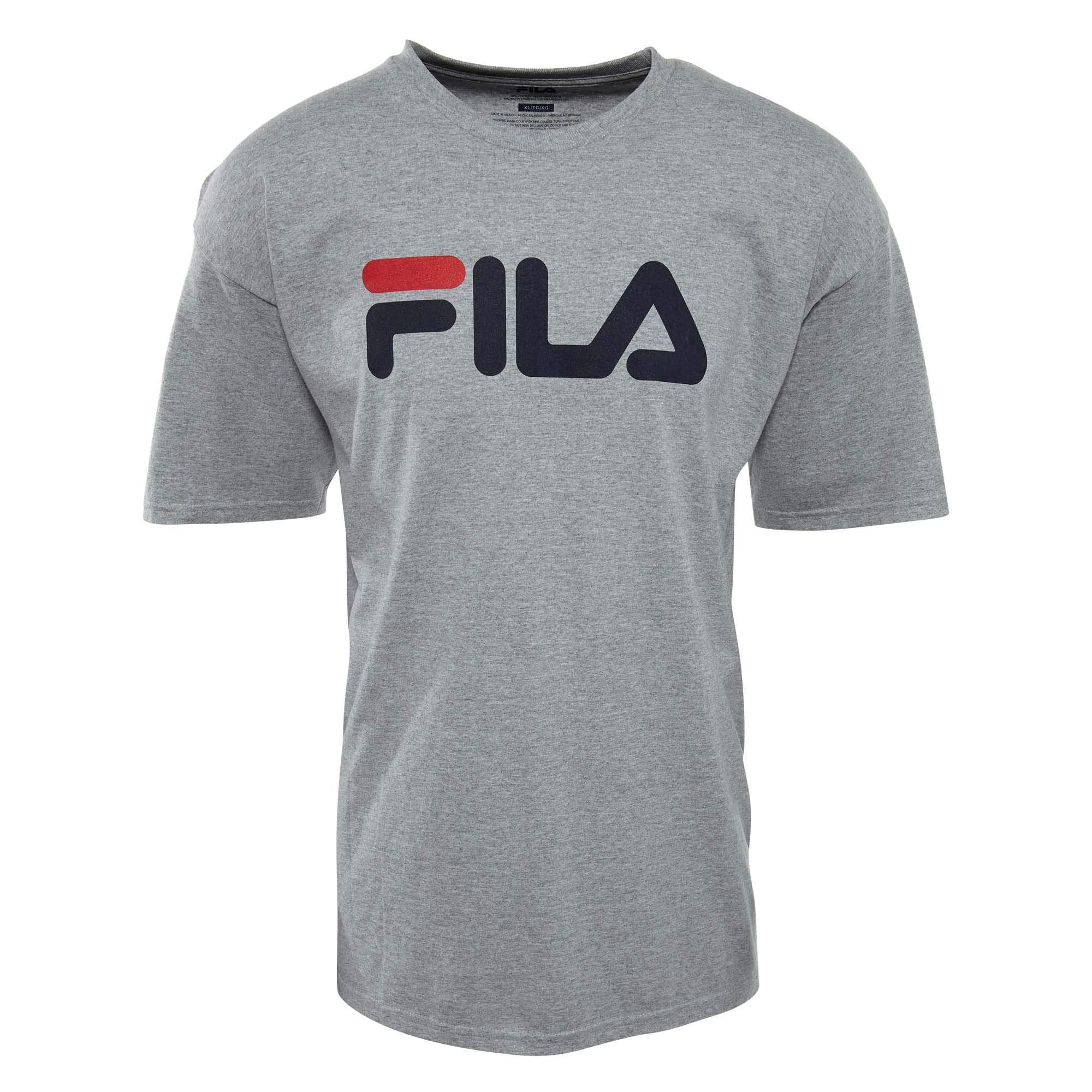 Fila Men's Logo Tee, Grey Heather, Small
