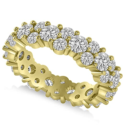 band rng genuine bands s yellow ring diamond mens men eternity gold cluster