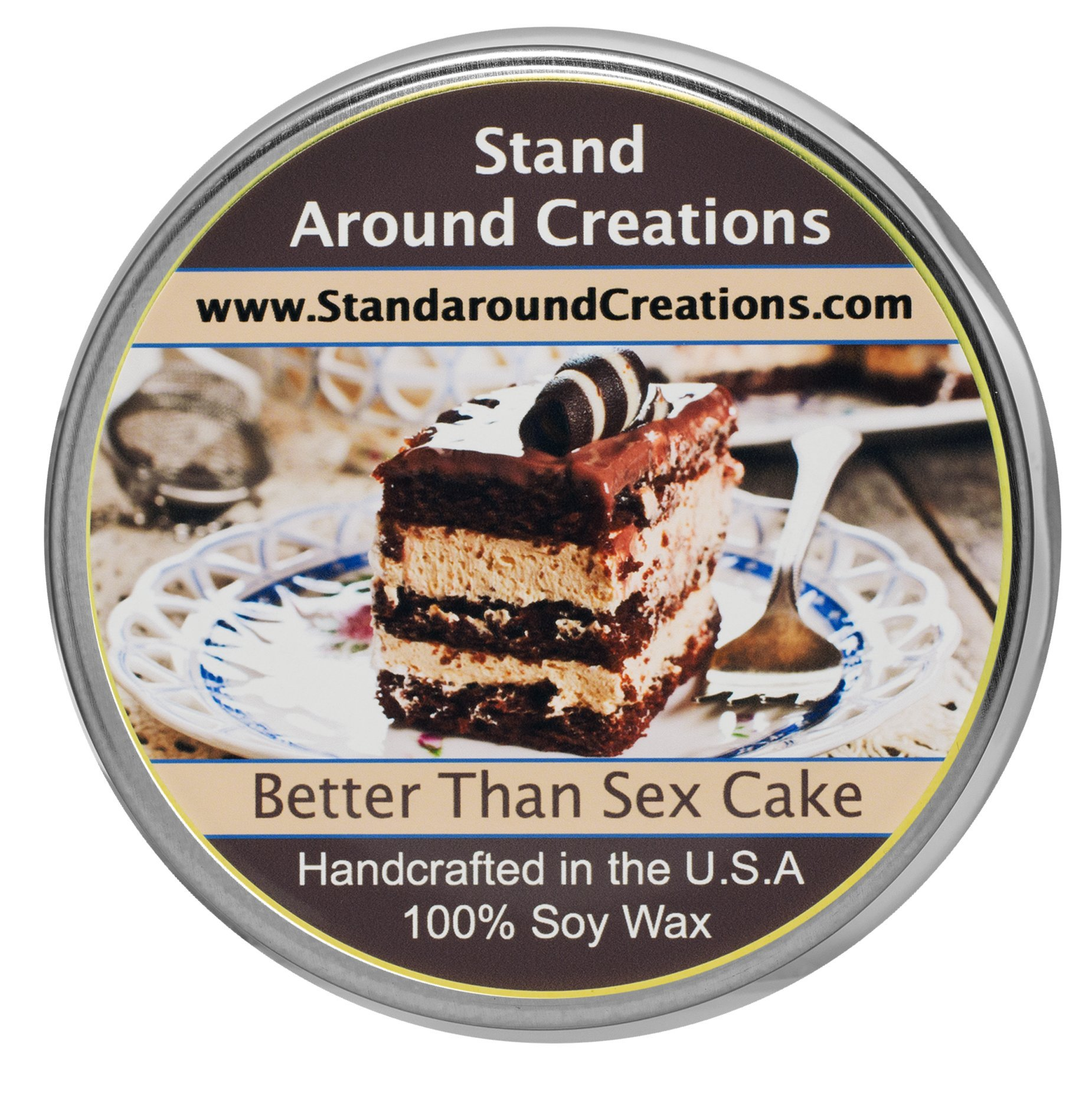 Premium 100% Soy Tureen Candle - 8 oz. - Better Than Sex Cake: German chocolate cake w/ chocolate chips w/ toffee bits. Vanilla creme and butterscotch syrup w/ hints of almond w/ coconut.