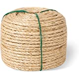 Yangbaga Sisal Rope for Cats - 1/4 Inch - Natural Fiber and Color 164FT